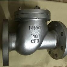 厂家直销法兰不锈钢球型止回阀304316不锈钢法兰滚球式止回阀