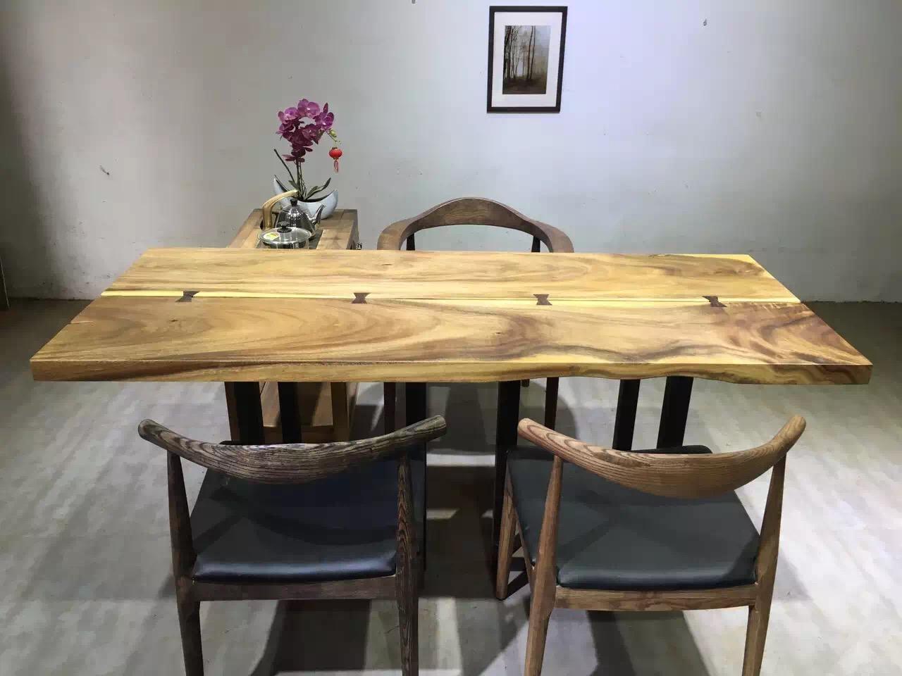 胡桃木烘干现代中式办公桌餐厅馆个性餐桌咖啡桌会所家装设计板材