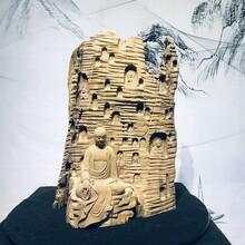 楠木雕刻达摩工艺品家居摆件根雕童子和尚如来佛像人物艺术品批发图片