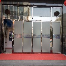 上海商场自动门酒店玻璃门安装宾馆旋转门定制图片