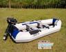 5人硬底充气船+船挂机套装,夹网橡皮艇,汽油船用马达