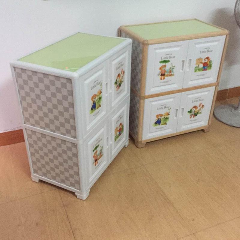 简易组合塑料儿童衣柜