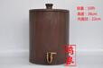 山东泰山木鱼石水桶,纯天然木鱼石饮水机水缸