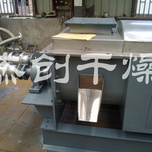 节能新品污泥烘干机空心桨叶干燥机双螺旋桨叶干燥设备图片