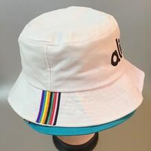 渔夫帽厂家供应刺绣纯棉斜纹渔夫帽太阳帽盆帽走边帽水桶帽图片