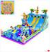 新款儿童充气城堡攀岩充气滑梯河南郑州百美专业定制