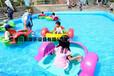 湖北隨州公園充氣水池水上手搖船,雙人塑料小船載重多少?