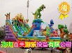 陜西咸陽廟會兒童充氣床,新款變色龍充氣滑梯戶外經營驚喜連連