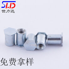 廠家供應盲孔壓鉚螺柱BSO-3.5M3-8六角壓鉚螺母柱圖片