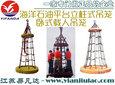 海洋作业平台吊笼,立柱固定式折叠卧式海上石油井救生吊篮图片
