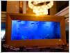 江蘇專業水族工程訂做圓柱型亞克力魚缸嵌墻式魚缸
