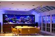 湖州魚缸定做大型水族館工程鑲嵌式水族工程