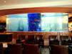 宜兴大型鱼缸定做大型私人会所别墅酒店大堂水族箱屋顶鲨鱼缸索浦