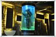 马鞍山鱼缸定做大型别墅镶嵌式鱼缸亚克力水族工程