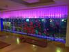 马鞍山鱼缸定做大型玻璃鱼缸嵌墙式水族工程