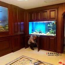 张家港鱼缸定做大型水族鱼缸