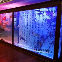 常熟生态水族箱墙面鱼缸定制