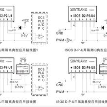 PWM脉宽信号DA转换高精度微型隔离变送器IC图片