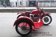 长江款750边三轮摩托车红色赛挎