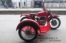 長江款750邊三輪摩托車紅色賽挎圖片