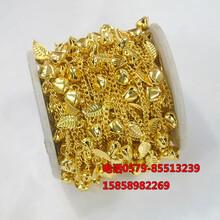 女士镀金项链仿黄金链子10米一轴镀金项链摆地摊好卖产品图片