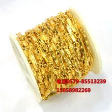 女士镀金项链男士仿黄金项链镀金链子按米卖10米一捆仿金链子图片