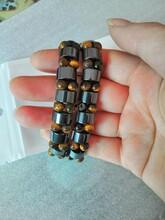 黑胆石磁疗手链磁石手排虎眼石高档手链图片