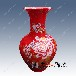景德镇结婚喜庆红色花瓶批发价格