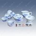 景德镇高档开业礼品陶瓷茶具批发价格贴花陶瓷茶具图片