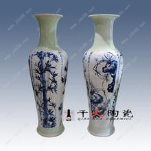 景德镇1.8米陶瓷大花瓶批发厂家手绘青花花瓶图片图片