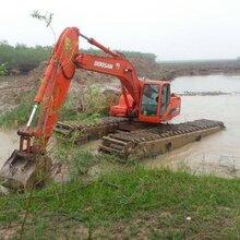卡特320型湿地挖掘机出租水上挖机租赁服务价格