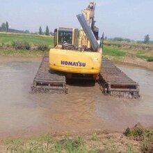 斗山220型湿地挖掘机出租水上清淤挖机出租服务好