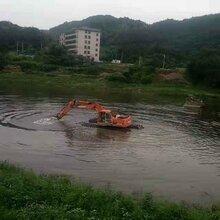 重庆黔江附近水上挖机出租水上挖掘机出租服务百姓