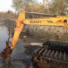 湿地钩机出租挖泥船出租重庆市璧山周边