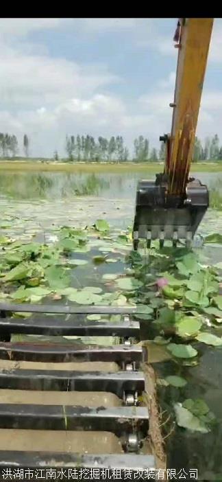 荆州沙市周边河道清淤挖掘机出租服务价格