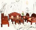 木雕大师雕花红酸枝大宝座红酸枝如意祥云大宝座工艺结构创新