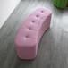 百佳贝迪皮艺床尾凳弧度床尾凳粉色皮凳时尚皮艺坐凳可定做