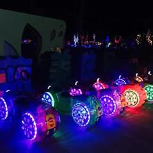 儿童户外太子摩托车广场彩灯电动车炫酷发光摩托战车