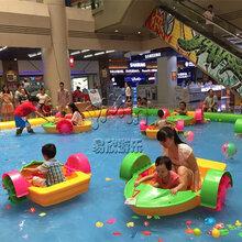 夏季水上乐园充气水池亲子互动手摇船水上漂浮物图片