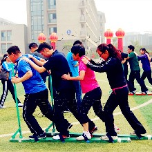 厂家直销趣味运动会道具协力竞走户外团队拓展训练器材设备可定制