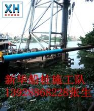 肇庆水上打桩船西江码头打桩队伍高要钢管打桩船四会浮箱水上打桩队图片