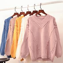 杭州便宜毛衣批發韓版女裝針織衫圓領毛衣清貨兩三塊毛衣便宜清圖片