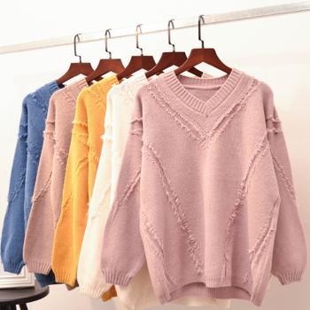 杭州便宜毛衣批发韩版女装针织衫圆领毛衣清货两三块毛衣便宜清