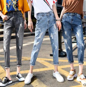 便宜女士牛仔裤九分裤清货便宜库存女装牛仔裤小脚裤清货