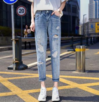 便宜女士牛仔裤韩版时尚弹力裤九分裤清货5元牛仔裤批发
