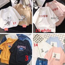 广州便宜韩版女装上衣夏季T恤纯棉短袖圆领T恤批发3-5元