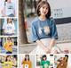 福建福州低价清货女士短袖纯棉T恤圆领T恤批发韩版女装上衣