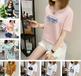 便宜女士短袖夏季T恤純棉女士上衣庫存服裝批發5元以下清