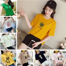 成都便宜女士T恤韩版女装上衣夏季服装纯棉T恤处理5-10元尾货