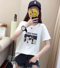 2019批发女装T恤便宜女士短袖纯棉T恤库存服装批发2-5元尾货